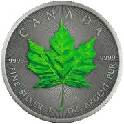 Canada SUMMER - FOUR SEASONS Canadian Maple Leaf $5 Silver Coin 2020 Antique finish 1 oz